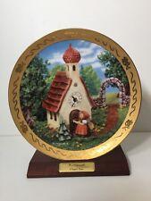 "Danbury Mint M I Hummel "" Chapel Time "" Century Plate w/Wooden Stand, 10 1/2"" D"
