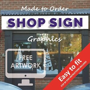 Shop Sign Graphics Sign Writing Kit Business Premise Advertising Signage Print
