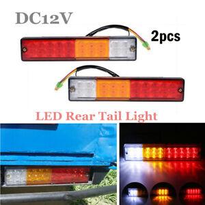 12V 20LED Auto Car Truck Trailer Tail Lights Turn Signal Reverse Brake Rear Lamp