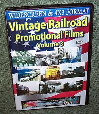 "20268 TRAIN VIDEO DVD ""VINTAGE RAILROAD PROMOTIONAL FILMS"" VOLUME 3"