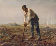 Man with the Hoe Jean Francois Millet 1800s Vintage Lithograph Art Print