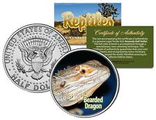 BEARDED DRAGON - Collectible Reptiles JFK Kennedy Half Dollar US Coin