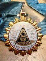 Shriners Past Masters Club Medal Vintage Item Al Malaikah Los Angeles