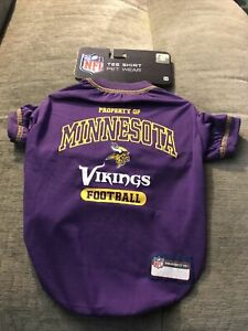 NFL Minnesota Vikings Dog Pet Tee Shirt Medium Polyester  Purple New