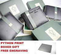 NEW BOXED GIFT Mens Personalised Engraved Leather Wallet RFID SECURE SAFE LUXURY