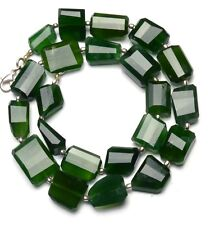 Natural Gemstone Serpentine Faceted Nugget Beads Necklace 18 Inches