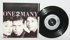 """One 2 Many – Writing On The Wall - 1989 Vinyl 7"""" Single - A&M AM 518 - NM"""