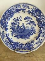Spode Blue Room Collection Georgian Girl at Well Luncheon Plate England