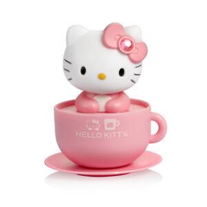 Pink Hello Kitty Moving Head Solar Car Decoration