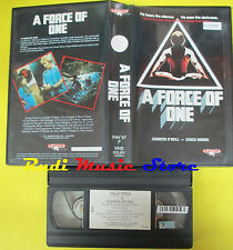 VHS film A FORCE OF ONE 1987 chuck norris o'neill PLAYTIME PAV 67 F (F68) no dvd