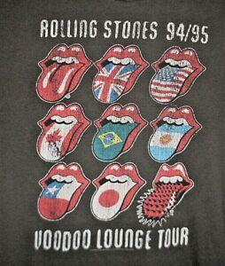 The Rolling Stones T Shirt 2009 Large Voodoo Lounge Tour