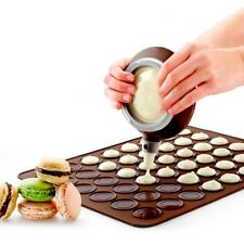 48 Cavities Macaron Baking Mat Silicone Macaroon Tray Non Stick Mould Sheet Mat