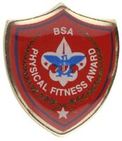 BOY SCOUT OFFICIAL BSA PHYSICAL FITNESS AWARD HAT LAPEL  PIN JAMBOREE CAMP NEW