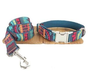 Dog Collar And Lead Set Aztec Design Pet UK Seller DC5