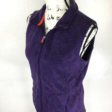 Woolrich Women's Purple Full Zip Vest Sleeveless Sweater Outerwear Size Small