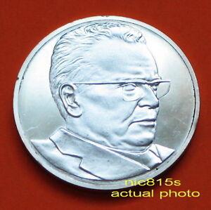 TITO, commemorative SILVER medal, Yugoslavia,  1980, 925/1000, PROOF, rare