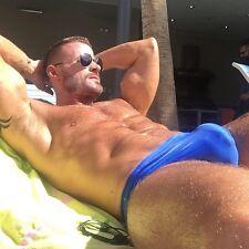 Sexy men's Anton bikini brief in shiny BLUE *** Kiniki & Erotic male underwear