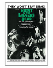 NIGHT OF THE LIVING DEAD - ONE SHEET MOVIE POSTER - 24x36 CLASSIC HORROR 0196