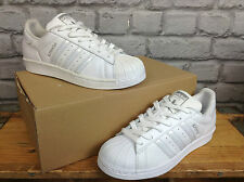 ADIDAS LADIES SUPERSTAR UK 6 1/2 EU 40 WHITE PEARL OPALESCENT LEATHER TRAINERS