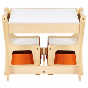 Crenex 3 in 1 Kids Table & Chair Set with Storage for Reading Drawing Homework
