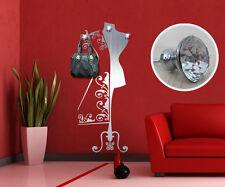 00315 Wall Sticker Appendiabiti Gioiello 3 Pomelli Swarovski Floreale 66x170 cm