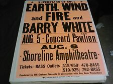 EARTH WIND AND FIRE BARRY WHITE  BOXING STYLE CONCERT POSTER