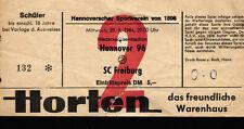 Ticket II. BL 84/85 Hannover 96 - SC Freiburg, 29.08.1984