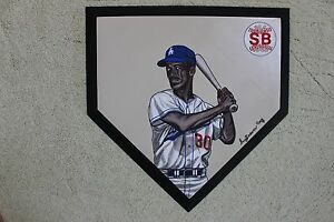 Maury Wills Los Angeles Dodgers Hand Painted MLB Schutt Home Plate
