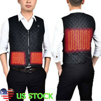 Electric USB Heated Warm Vest Men Boy Heating Coat Jacket Winter Clothing Skiing