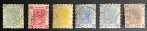 HONG KONG 1900-02 SG56-61 QV 3rd Issue Used LH Complete Set SC37,39,41,45,46,48