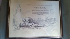 WW1 FRAMED OFFICIAL FRENCH VERDUN SOLDIERS CASUALTY SERVICE CERTIFICATE.