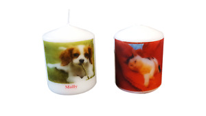 Personalised Picture Candles in 2 sizes any picture / words / sentiment / Thanks