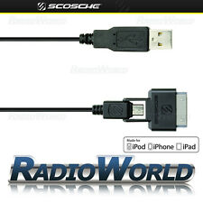 Scosche Dock Connector / Micro USB Cable Mobile Phone iPhone iPod Android