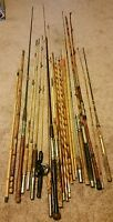 Vintage Lot of wood and  Bamboo Rod Section parts or Repair