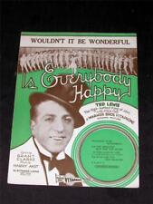 movies 1929 ted Lewis movie Is Everybody Happy sheet music