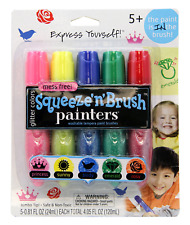 Painters Squeeze 'N Brush Washable Tempera Paint Brushes, Glitter Colors, Set of