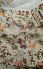 Laura Ashley Melrose Twin Bedskirt Morning Glory Rose Pinks  Blue