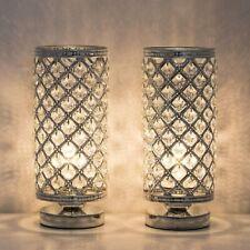 HAITRAL Crystal Lamps - Modern Bedside Desk Lamps Set of...