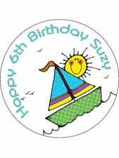 Boat Sailing Sea Nautical Fun Personalised Stickers Thank You Party Bags 25 24