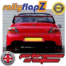 rallyflapZ MITSUBISHI EVO 9 (05-07) Mud Flaps Black Ralliart Logo Red 4mm PVC