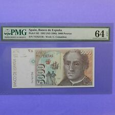 Spain 1992 (ND 1996) 5000 Pesetas, Pick # 165, PMG 64 EPQ Choice Uncirculated