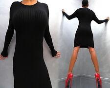 Warm Stretch Schwarz Perfect Elegant Fit Damen Kleid Classic L93 Top Dress L/XL