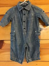 *GYMBOREE* Boys FOREST FRIENDS Chambray Fox One-Piece Romper Size 0-3 Months