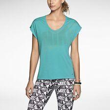 Nike Dri-Fit Touch Club Boxy Women's Training T-Shirt 637553 green NEW TOP M/L