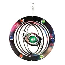 Hanging Solar System Wind Spinner - Indoor/Outdoor Kinetic Lawn and Garden Decor