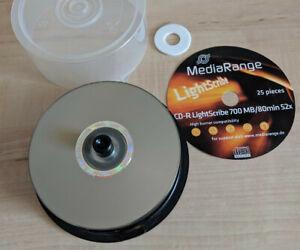 19x Lightscribe CD-R Rohlinge MediaRange - CD blank discs