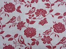 Bird Garden Peony Curtain Craft Upholstery Designer Fabric