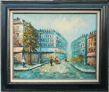 BEAUTIFUL PARIS CITYSCAPE OIL PAINTING ON MELAMINE BOARD**26X22 OVERALL SIZE