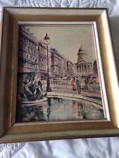 "Vintage ""The Madeleine"" Lelong 12"" x 10"" Print Edition W/Frame of the Pantheon"