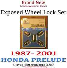 1987-2001 Honda PRELUDE Genuine OEM Exposed Wheel Lock Set       (08W42-SNA-100)